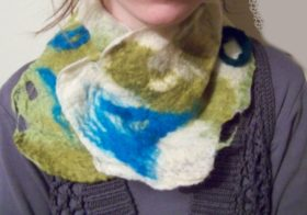 Felted Winter Scarf