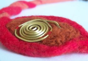 Felted Necklaces